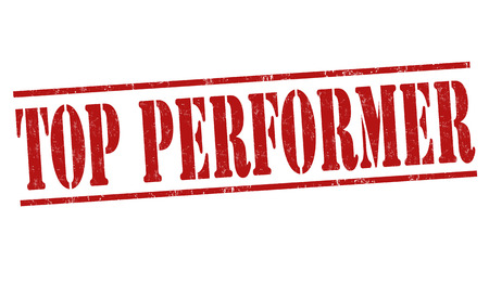 Top performer grunge rubber stamp on white background, vector illustration
