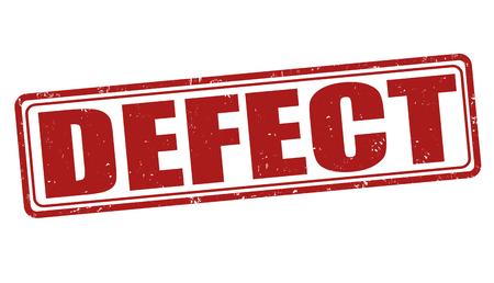 defect: Defect grunge rubber stamp on white background, vector illustration