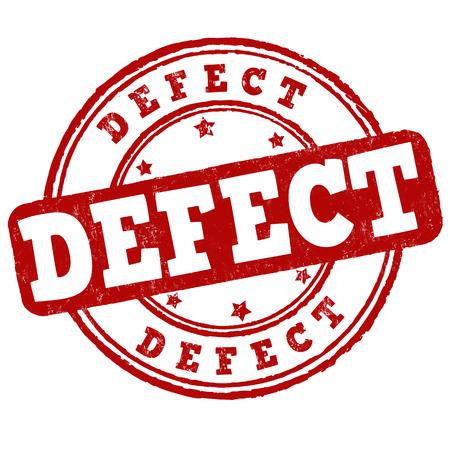 dissatisfaction: Defect grunge rubber stamp on white background, vector illustration