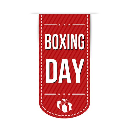 Boxing day banner design over a white background, vector illustration