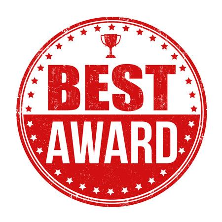 Best award grunge rubber stamp on white background, vector illustration