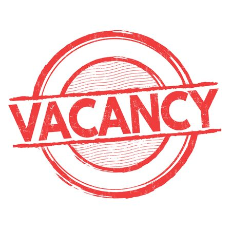 place of employment: Vacancy grunge rubber stamp on white background, vector illustration