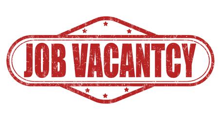 job vacancy: Job vacancy  grunge rubber stamp on white background, vector illustration Illustration