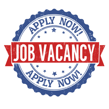Job vacancy  grunge rubber stamp on white background, vector illustration Ilustração