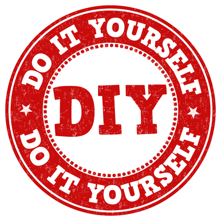 Do it yourself grunge rubber stamp on white background, vector illustration