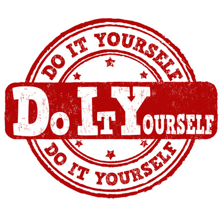 do it yourself: Do it yourself grunge rubber stamp on white background, vector illustration