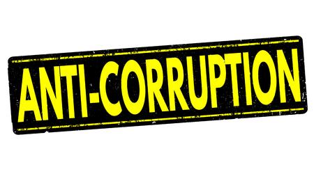 allegation: Anti-corruption grunge rubber stamp on white background, vector illustration Illustration