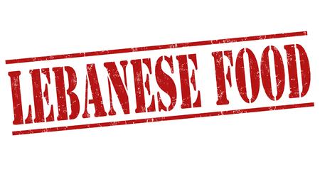 lebanese food: Lebanese food grunge rubber stamp on white background, vector illustration Illustration