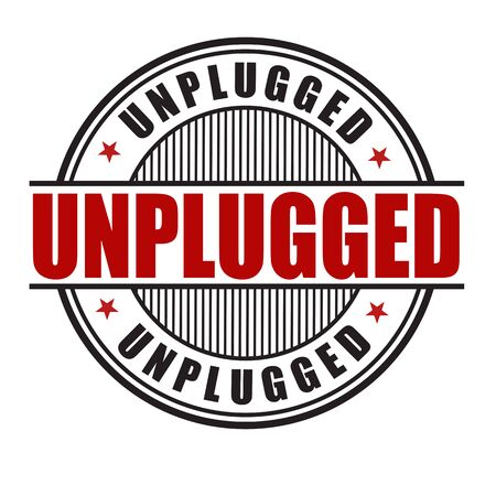 show off: Unplugged grunge rubber stamp on white background, vector illustration