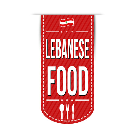 restaurant food: Lebanese food banner design over a white background, vector illustration