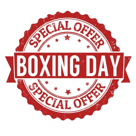 boxing day special: Boxing day grunge rubber stamp on white background