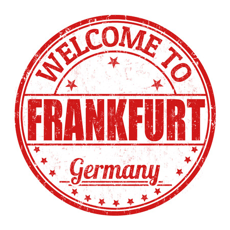 frankfurt: Welcome to Frankfurt  grunge rubber stamp on white background, vector illustration