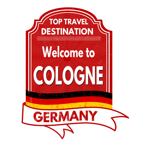 cologne: Welcome to Cologne grunge rubber stamp on white background, vector illustration