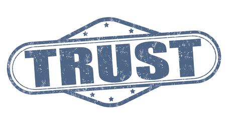 certitude: Trust grunge rubber stamp on white background, vector illustration Illustration