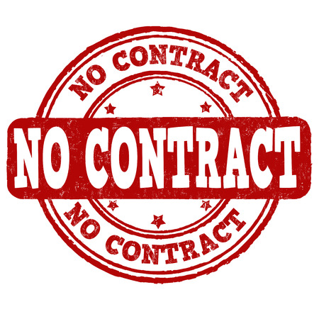 no: No contract grunge rubber stamp over a white background, vector illustration Illustration