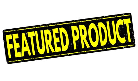 featured: Featured product grunge rubber stamp on white background, illustration