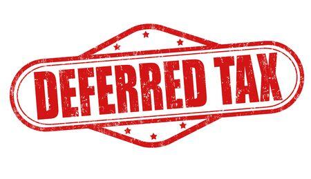 grungy header: Deferred tax grunge rubber stamp on white background, illustration Illustration