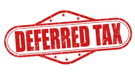 Deferred tax grunge rubber stamp on white background, illustration Illustration