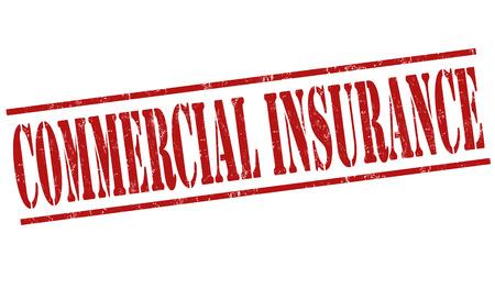 home finances: Commercial insurance grunge rubber stamp on white background, vector illustration