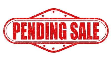 pending: Sale pending grunge rubber stamp on white background, vector illustration
