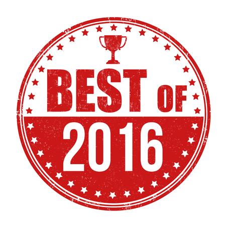 best background: Best of 2016 grunge rubber stamp on white background, vector illustration