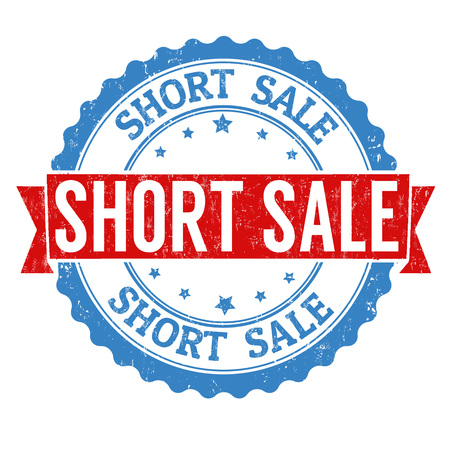 short sale: Short sale grunge rubber stamp on white background, vector illustration Illustration