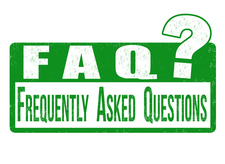 frequently: FAQ (frequently asked questions) grunge rubber stamp on white background, vector illustration