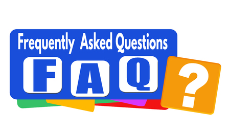 asked: FAQ (frequently asked questions) banner or label for business promotion on white background,vector illustration