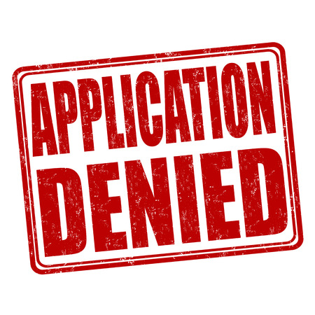 denied: Application denied grunge rubber stamp on white background, vector illustration
