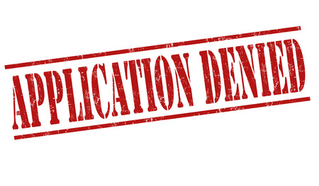 Application denied grunge rubber stamp on white background, vector illustration