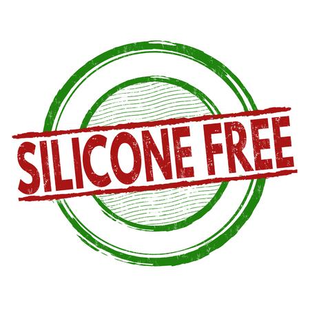 Silicone gratis grunge rubber stempel op een witte achtergrond, vector illustratie