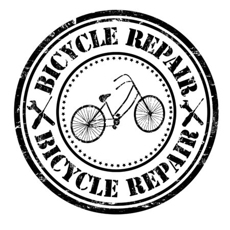 bicycling: Bicycles repair grunge rubber stamp on white background, vector illustration
