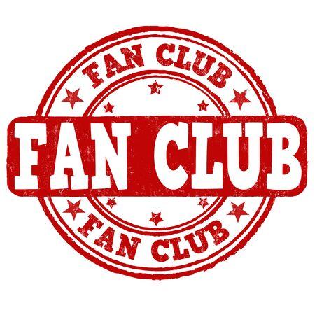 Fan Club grunge rubber stamp on white background, vector illustration Illustration