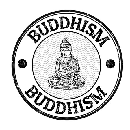 buddhism: Buddhism grunge rubber stamp on white background, vector illustration