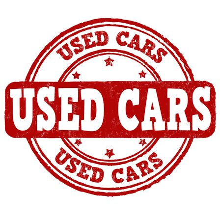 used: Used cars grunge rubber stamp on white background, vector illustration