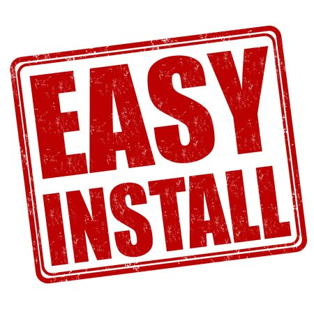 install: Easy install grunge rubber stamp on white background, vector illustration Illustration