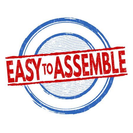 assemble: Easy to assemble grunge rubber stamp on white background, vector illustration