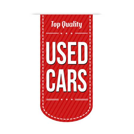 Used cars banner design over a white background, vector illustration