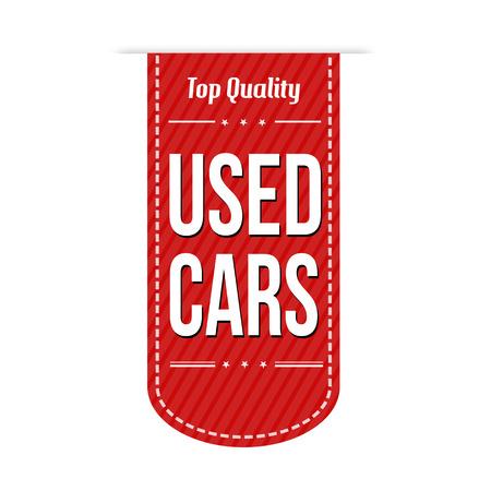 Used cars banner design over a white background, vector illustration