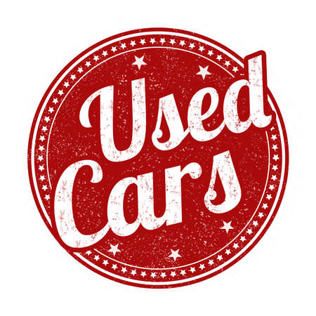 used stamp: Used cars grunge rubber stamp on white background, vector illustration