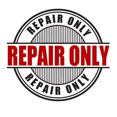 refit: Repair only grunge rubber stamp on white background, vector illustration Stock Photo