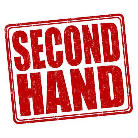 second hand: Second hand grunge rubber stamp on white background, vector illustration Stock Photo
