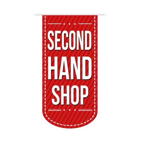 second hand: Second hand shop banner design over a white background, vector illustration Illustration