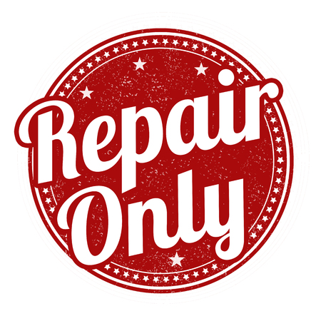 refit: Repair only grunge rubber stamp on white background, vector illustration Illustration