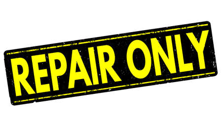 retrieval: Repair only grunge rubber stamp on white background, vector illustration Stock Photo