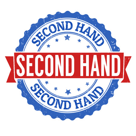 second: Second hand grunge rubber stamp on white background, vector illustration Stock Photo