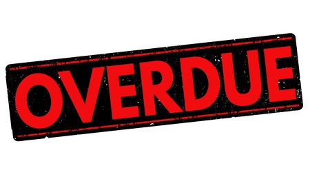 Overdue grunge rubber stamp on white background, vector illustration