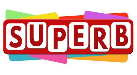 Superb banner or label for business promotion on white background,vector illustration