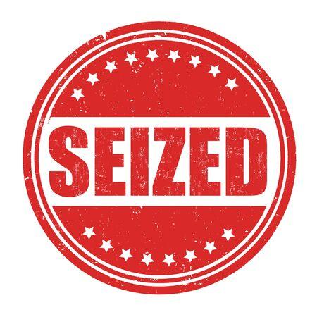 seized: Seized grunge rubber stamp on white background, vector illustration