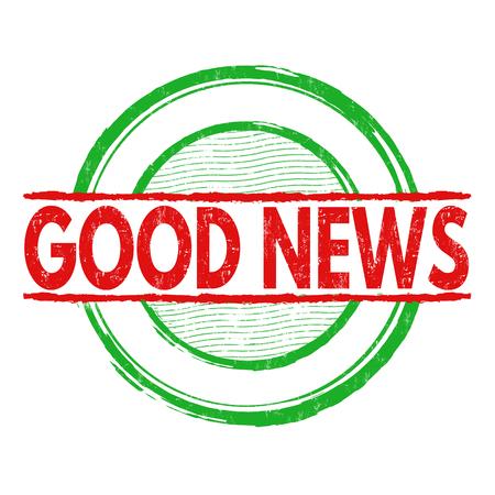 good news: Good news grunge rubber stamp on white background, vector illustration Illustration